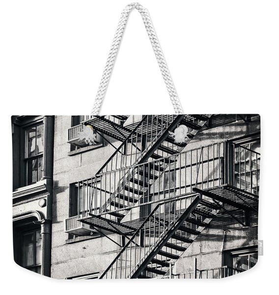 Fire Escape Black And White Weekender Tote Bag