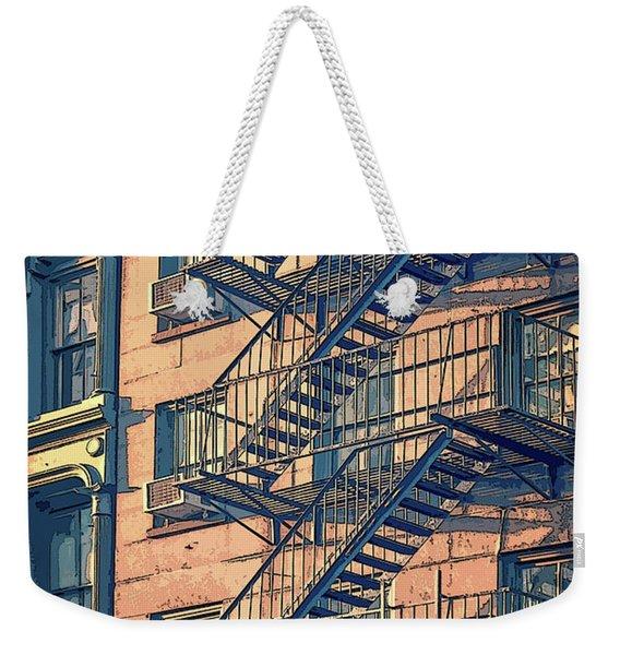 Fire Escape Weekender Tote Bag