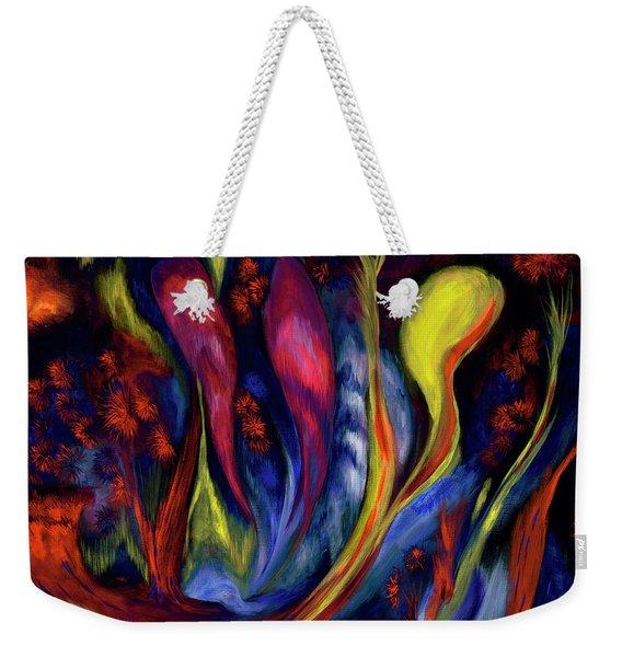 Fire Flowers Weekender Tote Bag