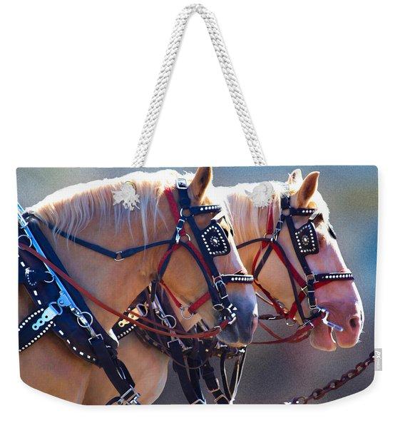 Fire Horses Weekender Tote Bag
