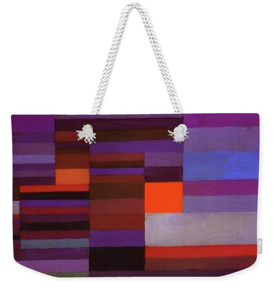 Fire In The Evening Weekender Tote Bag