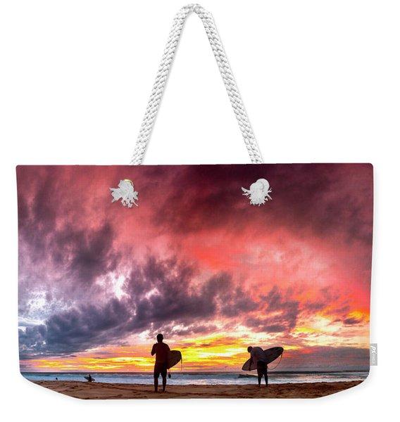 Fire In The Sky. Weekender Tote Bag