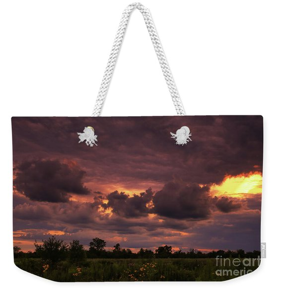 Fire In The Sky Tonight Weekender Tote Bag