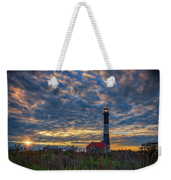 Fire Island Lighthouse At Sunset Weekender Tote Bag