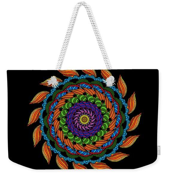 Fire Mandala Weekender Tote Bag