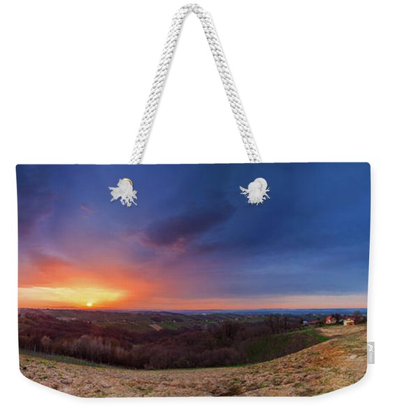 Fire On The West Side Weekender Tote Bag
