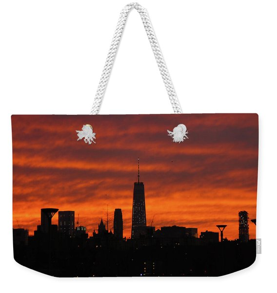 Fire Over New York Weekender Tote Bag