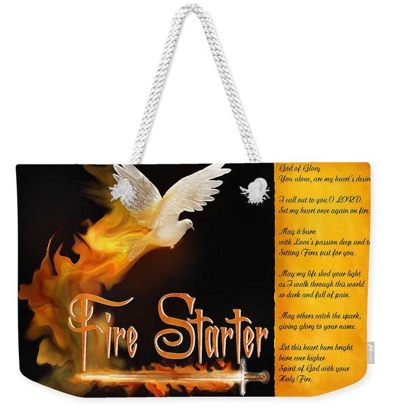 Fire Starter Poem Weekender Tote Bag