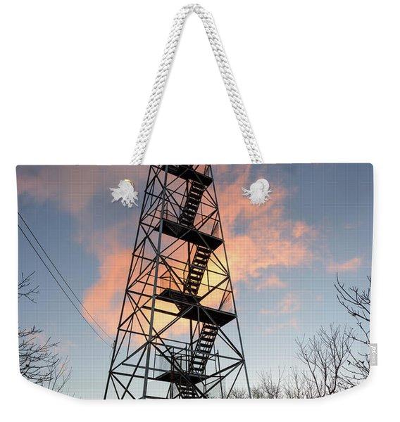 Fire Tower Sky Weekender Tote Bag