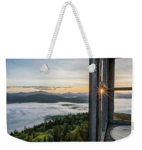Fire Tower Sunburst Weekender Tote Bag