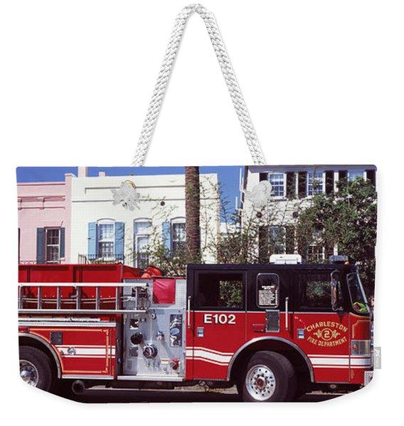 Fire Truck On The Road, Charleston Weekender Tote Bag