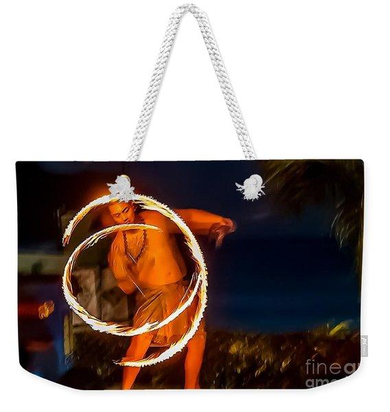 Fire Twirl Weekender Tote Bag