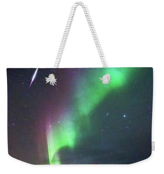 Fireball In The Aurora Weekender Tote Bag