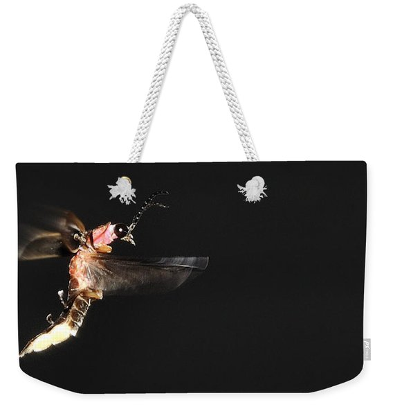 Firefly In Flight Weekender Tote Bag