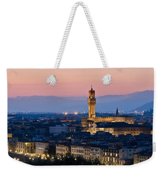 Firenze At Sunset Weekender Tote Bag