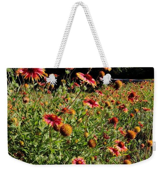 Firewheel Wildflower Weekender Tote Bag