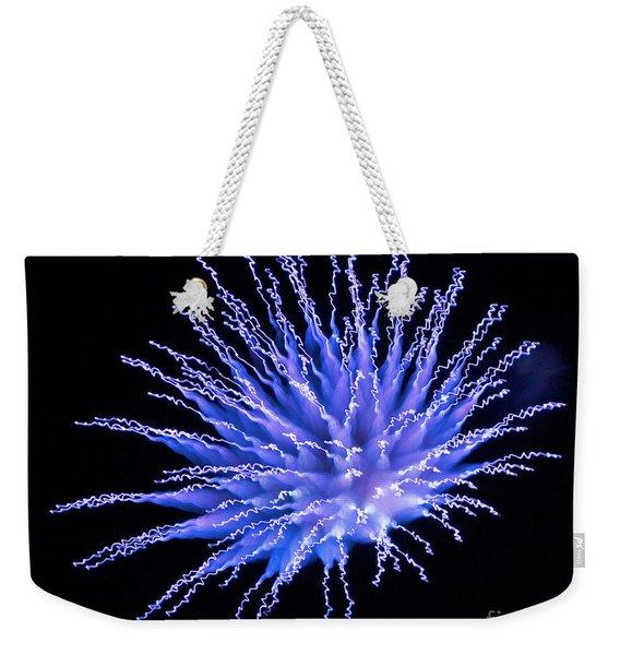 Firework Blue Weekender Tote Bag