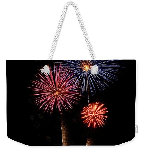 Firework Trees Weekender Tote Bag