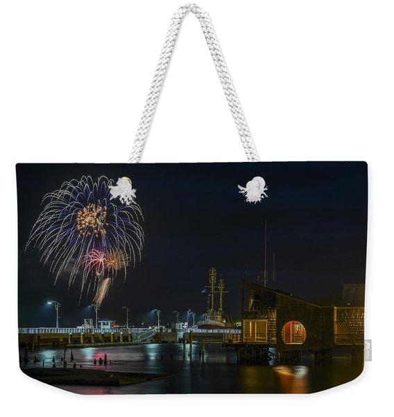 Fireworks And 17th Street Docks Weekender Tote Bag