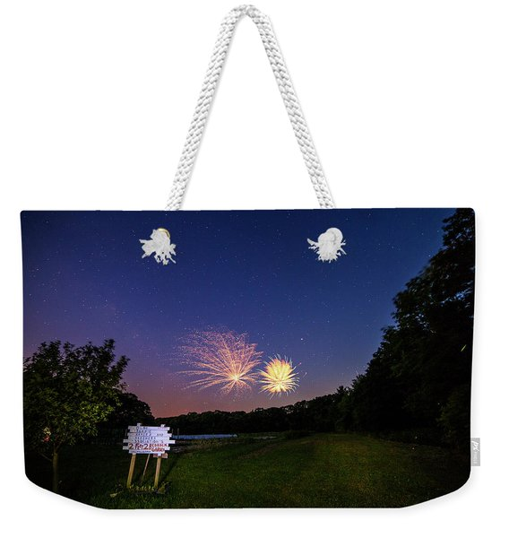 Fireworks And The Stars Weekender Tote Bag