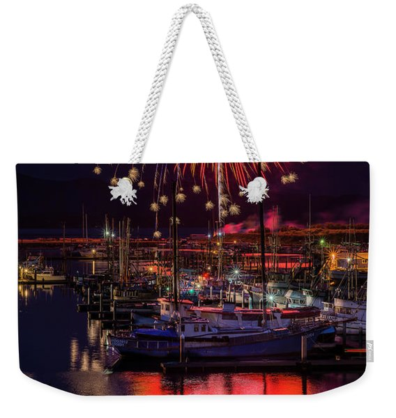 Fireworks At The Docks Weekender Tote Bag