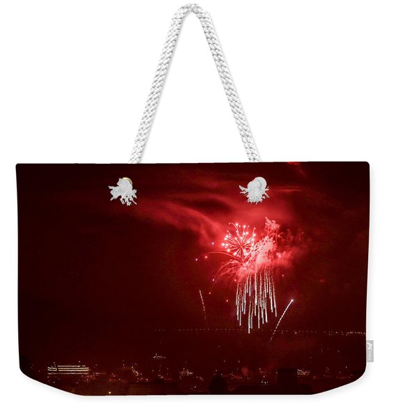 Fireworks In Red And White Weekender Tote Bag