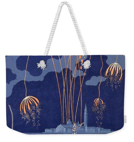 Fireworks In Venice Weekender Tote Bag