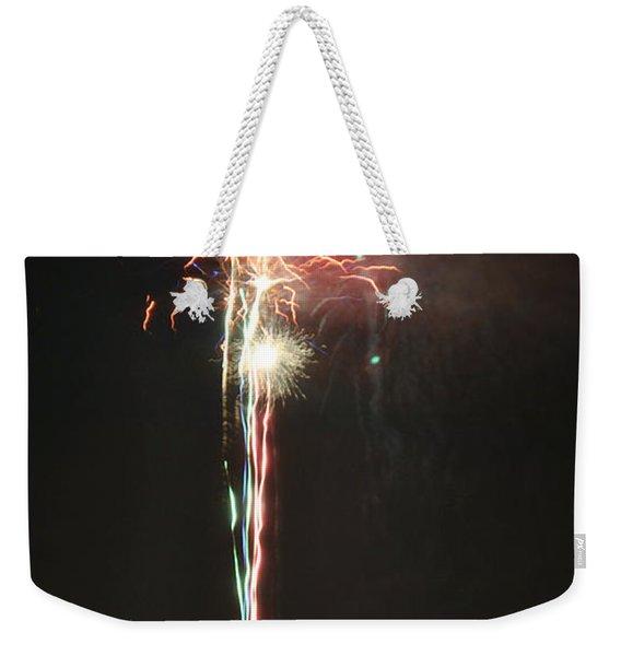Fireworks On The Lake Weekender Tote Bag