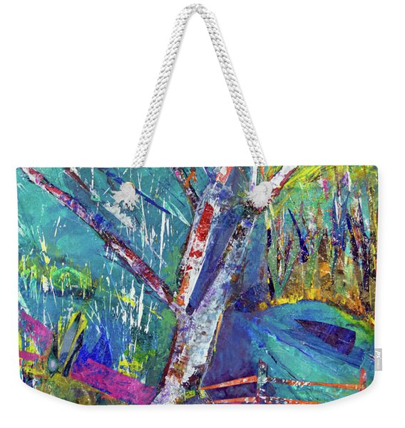 Firey Birch Weekender Tote Bag