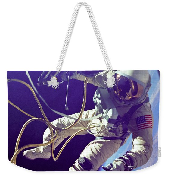 First American Walking In Space, Edward Weekender Tote Bag