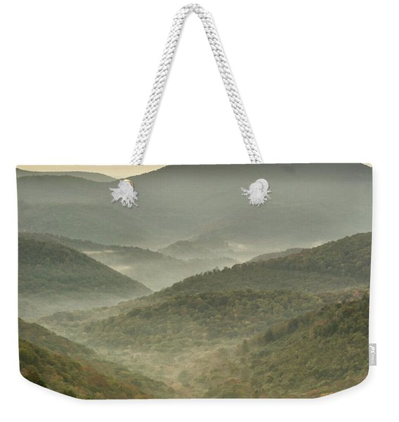 First Day Of Fall Highlands Weekender Tote Bag