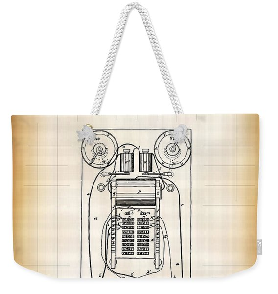 First Electric Voting Machine Patent 1869 Weekender Tote Bag