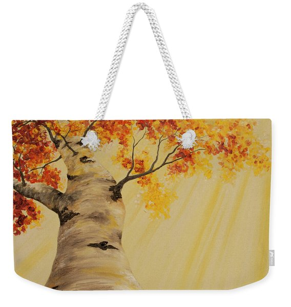 First Fall Light Weekender Tote Bag