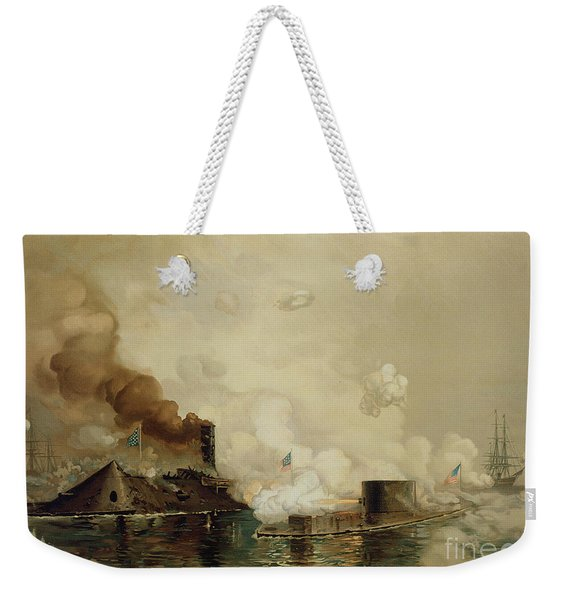 First Fight Between Ironclads Weekender Tote Bag
