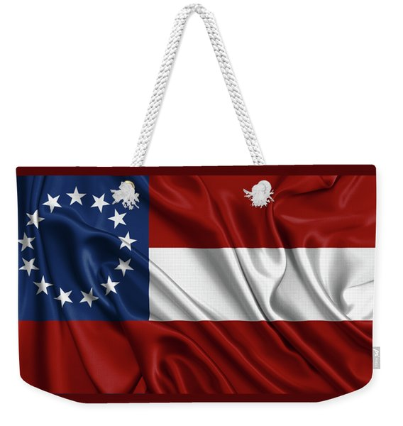 First Flag Of The Confederate States Of America - Stars And Bars 1861-1863 Weekender Tote Bag