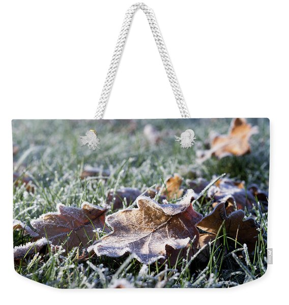 First Frost Weekender Tote Bag