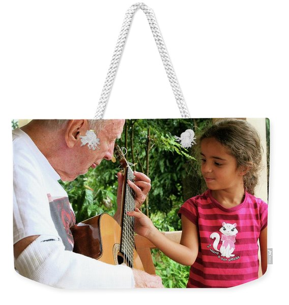 First Guitar Lesson Weekender Tote Bag