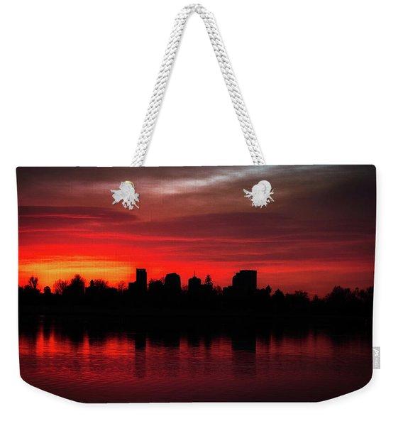 First Light In Denver Weekender Tote Bag