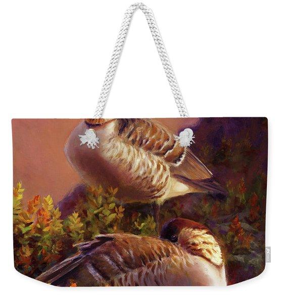 First Light Nene Hawaiian Goose Weekender Tote Bag