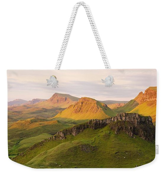 First Light On The Quairing  Weekender Tote Bag