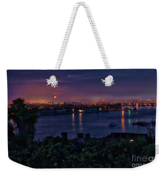 First Moonset Of 2018 Weekender Tote Bag