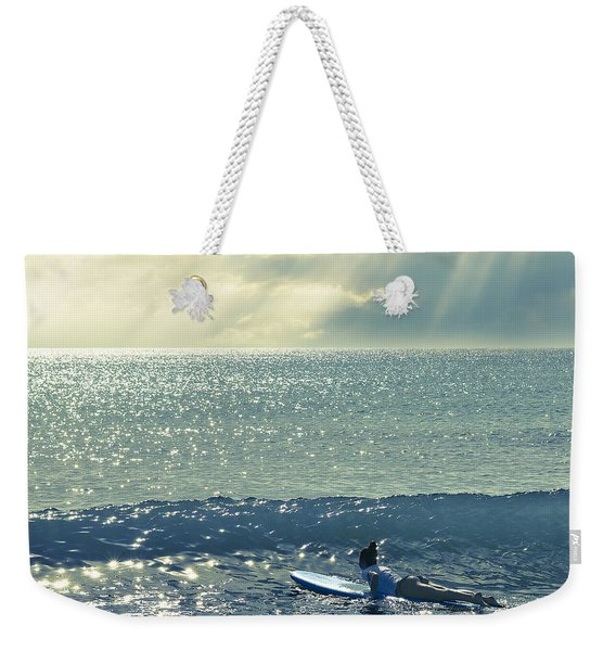 First Of The Day Weekender Tote Bag