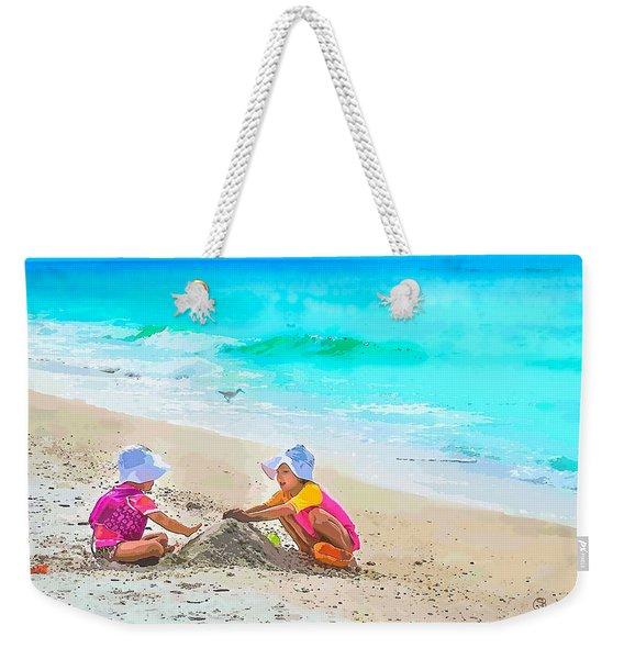 First Sand Castle Weekender Tote Bag