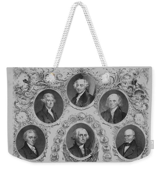 First Six U.s. Presidents Weekender Tote Bag