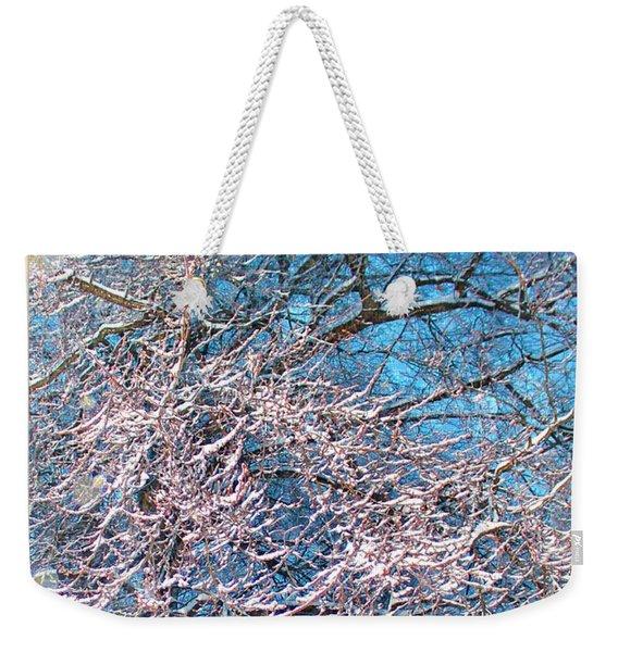 First Snow At Dawn Weekender Tote Bag