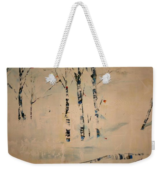 First Snow Central Park Weekender Tote Bag
