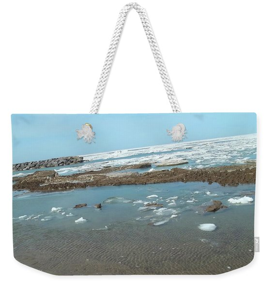 First Thaw Of Frozen Lake Erie Weekender Tote Bag