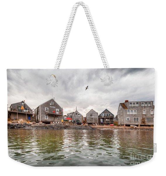 Fish Beach Weekender Tote Bag