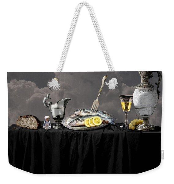 Fish Diner In Silver Weekender Tote Bag