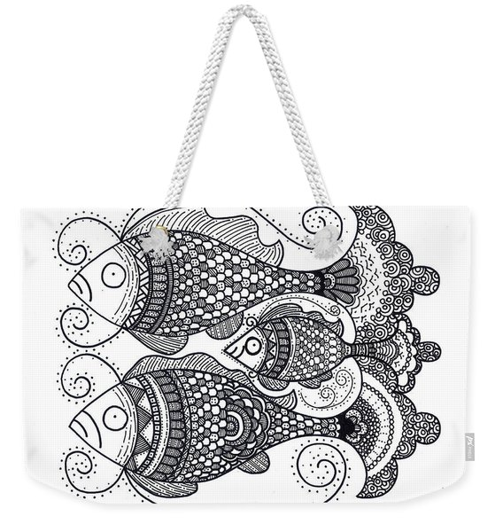 Fish Family Weekender Tote Bag